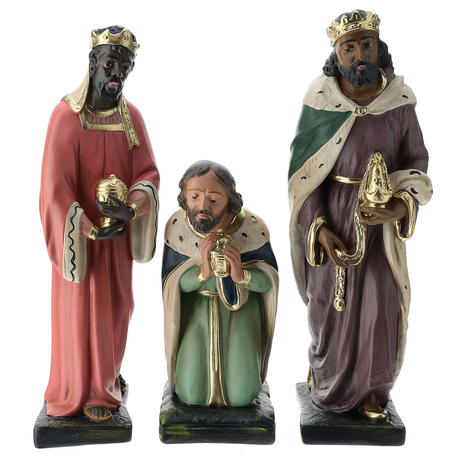 Three Wise Men in plaster for Arte Barsanti Nativity Scene 40 cm 4