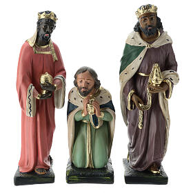 Three Wise Men in plaster for Arte Barsanti Nativity Scene 40 cm s1
