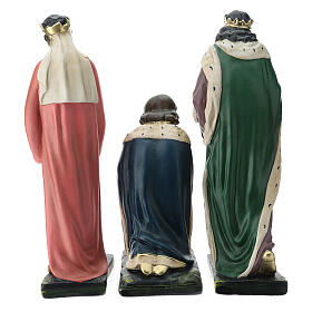 Three Wise Men in plaster for Arte Barsanti Nativity Scene 40 cm s11
