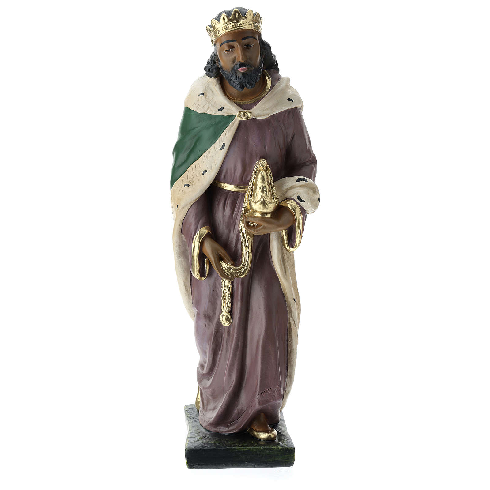 Estatuas Arte Barsanti 3 Reyes Magos yeso pintado a mano belenes 40 cm 4