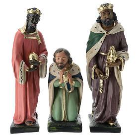Estatuas Arte Barsanti 3 Reyes Magos yeso pintado a mano belenes 40 cm s1