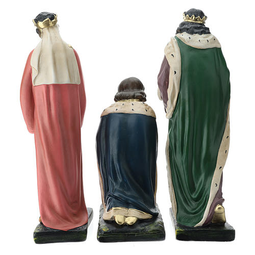 Estatuas Arte Barsanti 3 Reyes Magos yeso pintado a mano belenes 40 cm 11