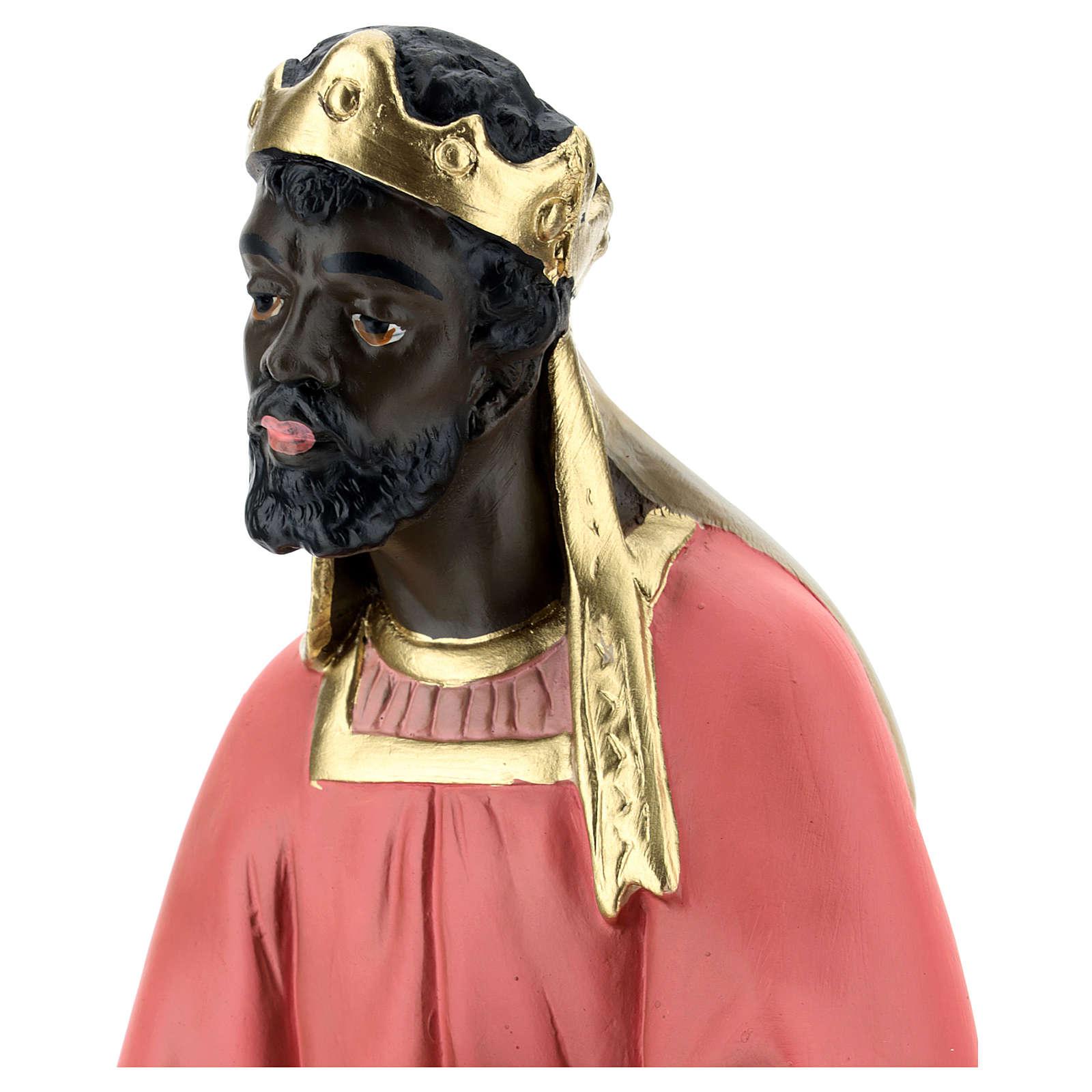Mago negro Baltasar yeso belén 40 cm Arte Barsanti 4