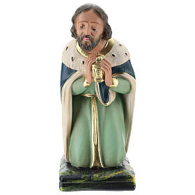 White Wise Man in plaster for Arte Barsanti Nativity Scene 40 cm s1