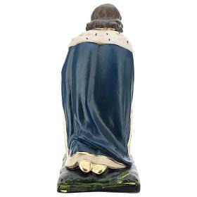 White Wise Man in plaster for Arte Barsanti Nativity Scene 40 cm s5