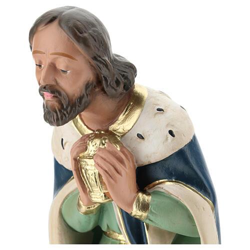 White Wise Man in plaster for Arte Barsanti Nativity Scene 40 cm 2