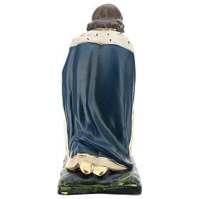 Magio bianco Melchiorre in ginocchio presepe 40 cm Arte Barsanti s5
