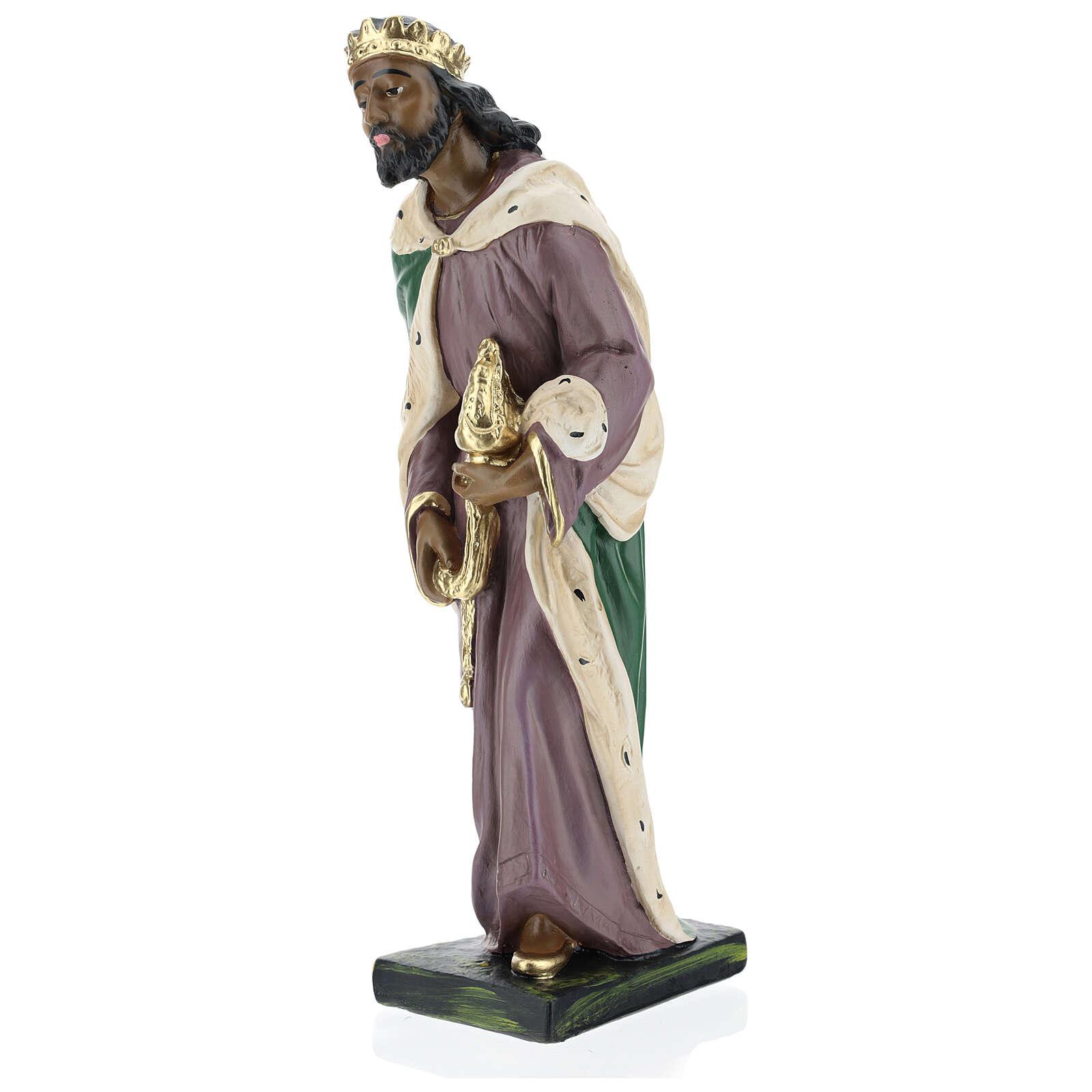 Moor Wise Man in plaster for Arte Barsanti Nativity Scene 40 cm 4