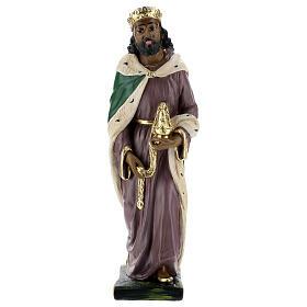 Moor Wise Man in plaster for Arte Barsanti Nativity Scene 40 cm s1