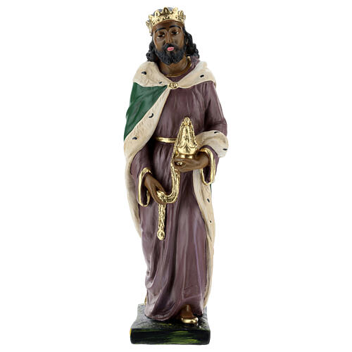 Moor Wise Man in plaster for Arte Barsanti Nativity Scene 40 cm 1