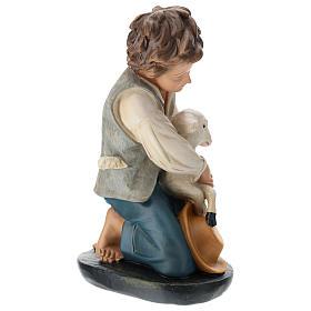 Estatua pastor y oveja de rodillas belén 40 cm Arte Barsanti s4