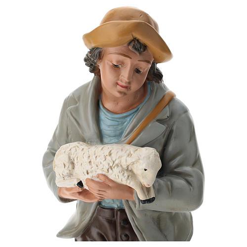 Berger et moutons plâtre coloré pour crèche 40 cm Arte Barsanti 2