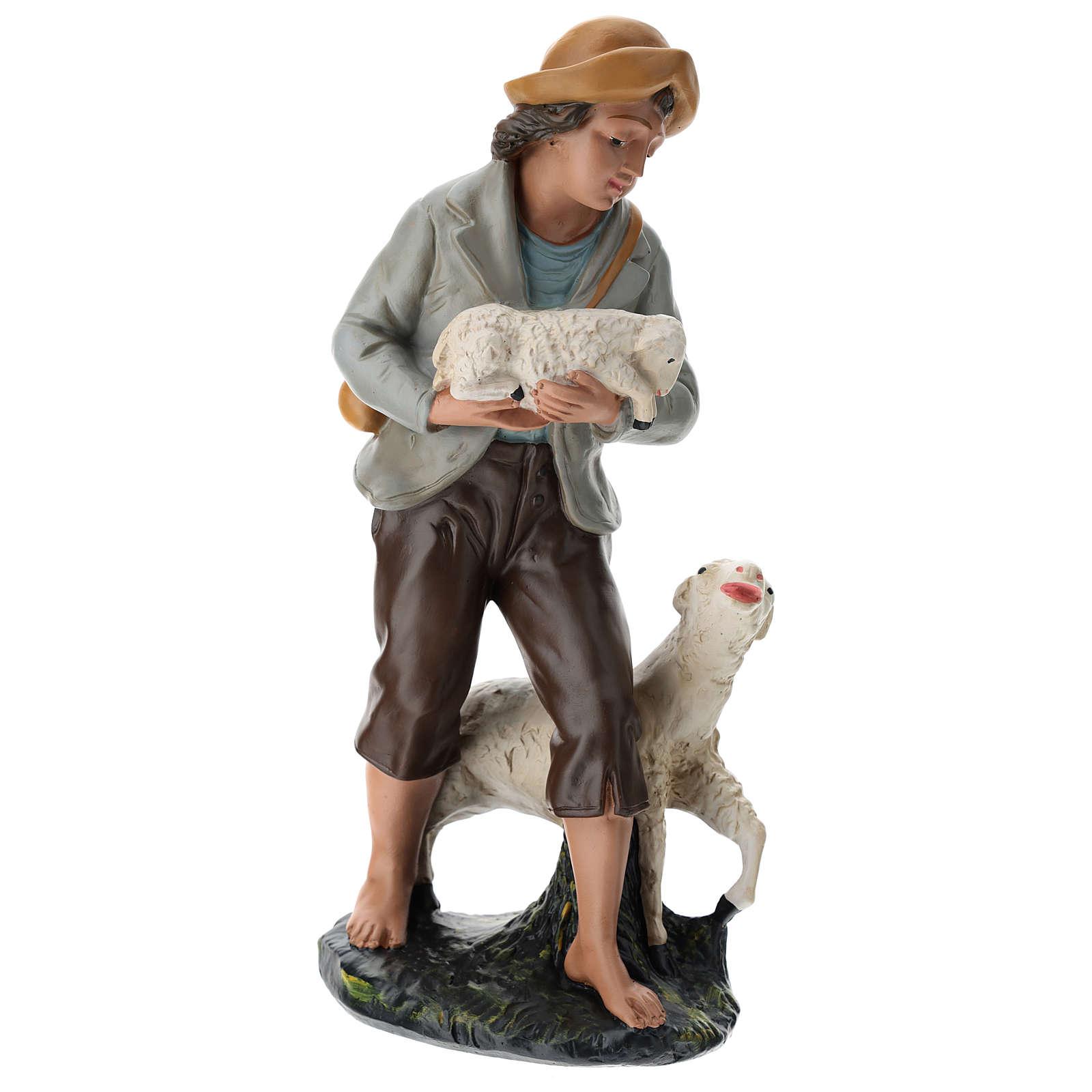 Statua pastore e pecore 40 cm gesso dipinto a mano Arte Barsanti 4