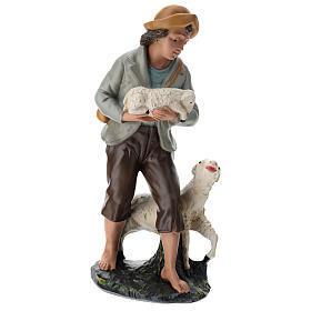 Statua pastore e pecore 40 cm gesso dipinto a mano Arte Barsanti s4