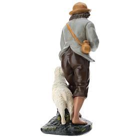 Statua pastore e pecore 40 cm gesso dipinto a mano Arte Barsanti s5