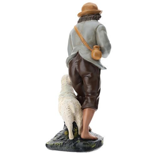 Statua pastore e pecore 40 cm gesso dipinto a mano Arte Barsanti 5