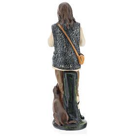 Piper with dog in plaster for Arte Barsanti Nativity Scene 40 cm s6