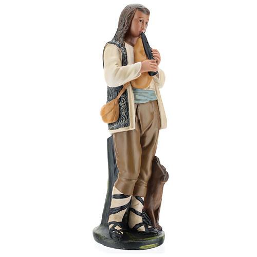 Piper with dog in plaster for Arte Barsanti Nativity Scene 40 cm 4