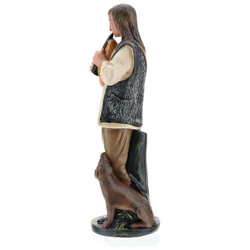Piper with dog in plaster for Arte Barsanti Nativity Scene 40 cm 5