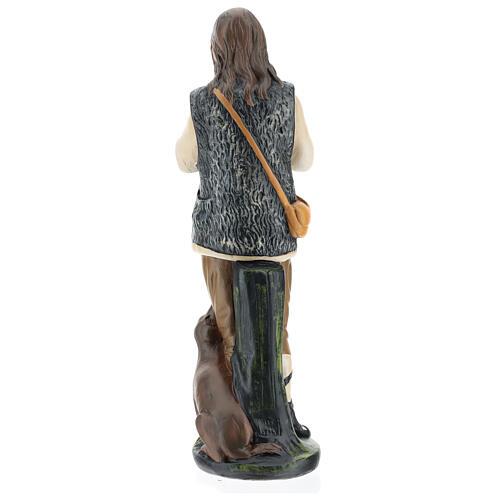 Piper with dog in plaster for Arte Barsanti Nativity Scene 40 cm 6