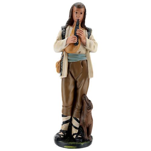 Statua zampognaro con cagnolino 40 cm Arte Barsanti 1