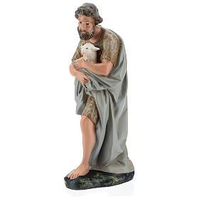 Shepherd holding a sheep in plaster for Arte Barsanti Nativity Scene 40 cm s3