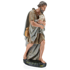 Shepherd holding a sheep in plaster for Arte Barsanti Nativity Scene 40 cm s4