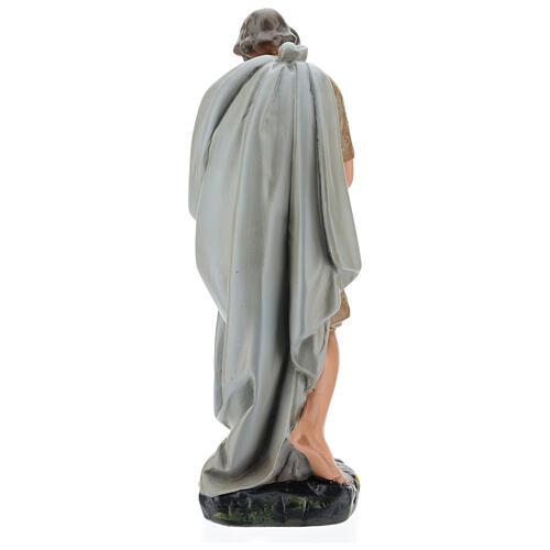 Shepherd holding a sheep in plaster for Arte Barsanti Nativity Scene 40 cm 5