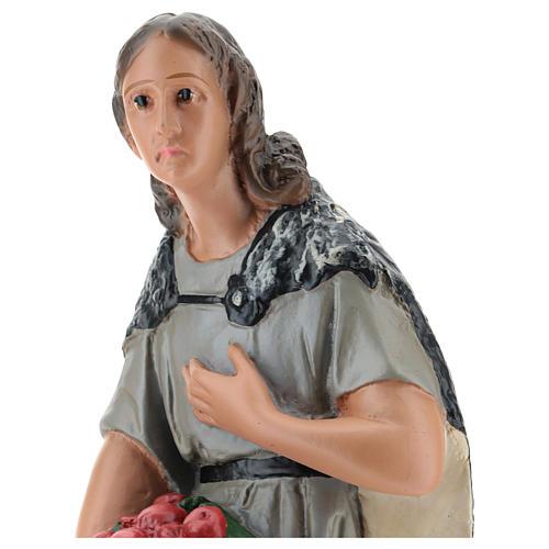 Campesino con hortalizas yeso pintado a mano 40 cm Arte Barsanti 2