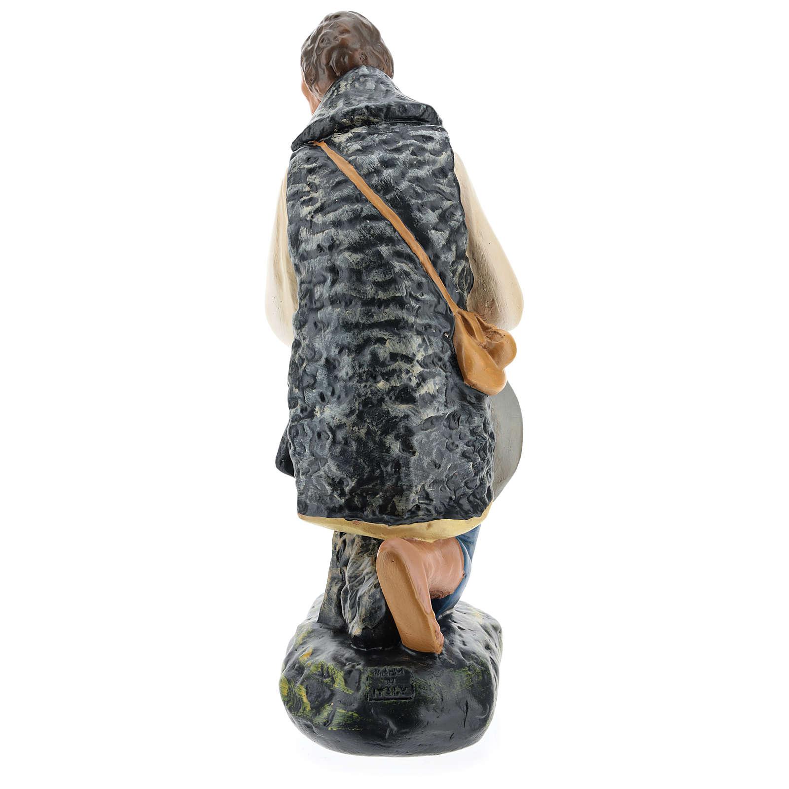 Pastore in ginocchio con cappello presepe Arte Barsanti 40 cm 4