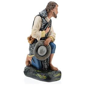 Pastore in ginocchio con cappello presepe Arte Barsanti 40 cm s4