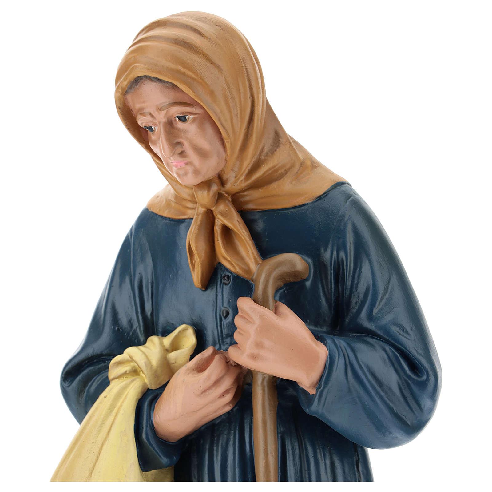 Estatua campesina lío y bastón belén 40 cm Arte Barsanti 4