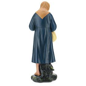 Estatua campesina lío y bastón belén 40 cm Arte Barsanti s5