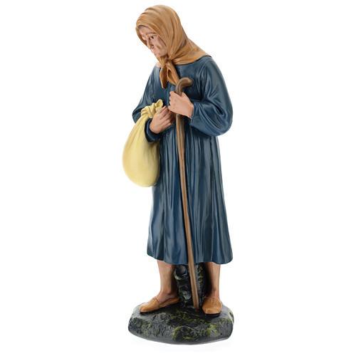Estatua campesina lío y bastón belén 40 cm Arte Barsanti 3