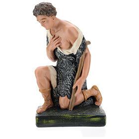 Estatua pastor con bastón de rodillas belén 40 cm Barsanti s4