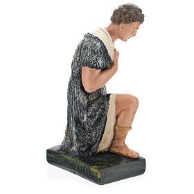 Estatua pastor con bastón de rodillas belén 40 cm Barsanti s5