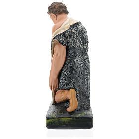 Estatua pastor con bastón de rodillas belén 40 cm Barsanti s6