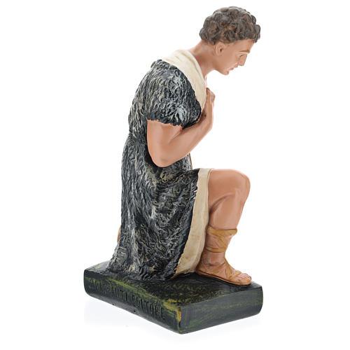 Estatua pastor con bastón de rodillas belén 40 cm Barsanti 5