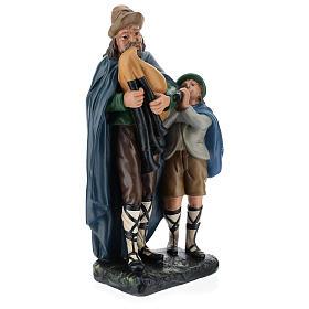 Estatua gaitero con niño 40 cm yeso Arte Barsanti s4