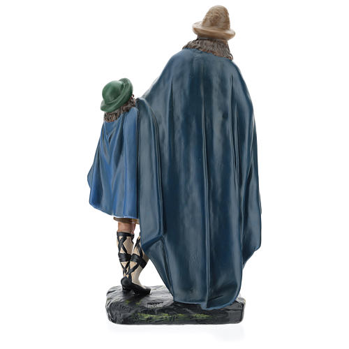 Estatua gaitero con niño 40 cm yeso Arte Barsanti 5