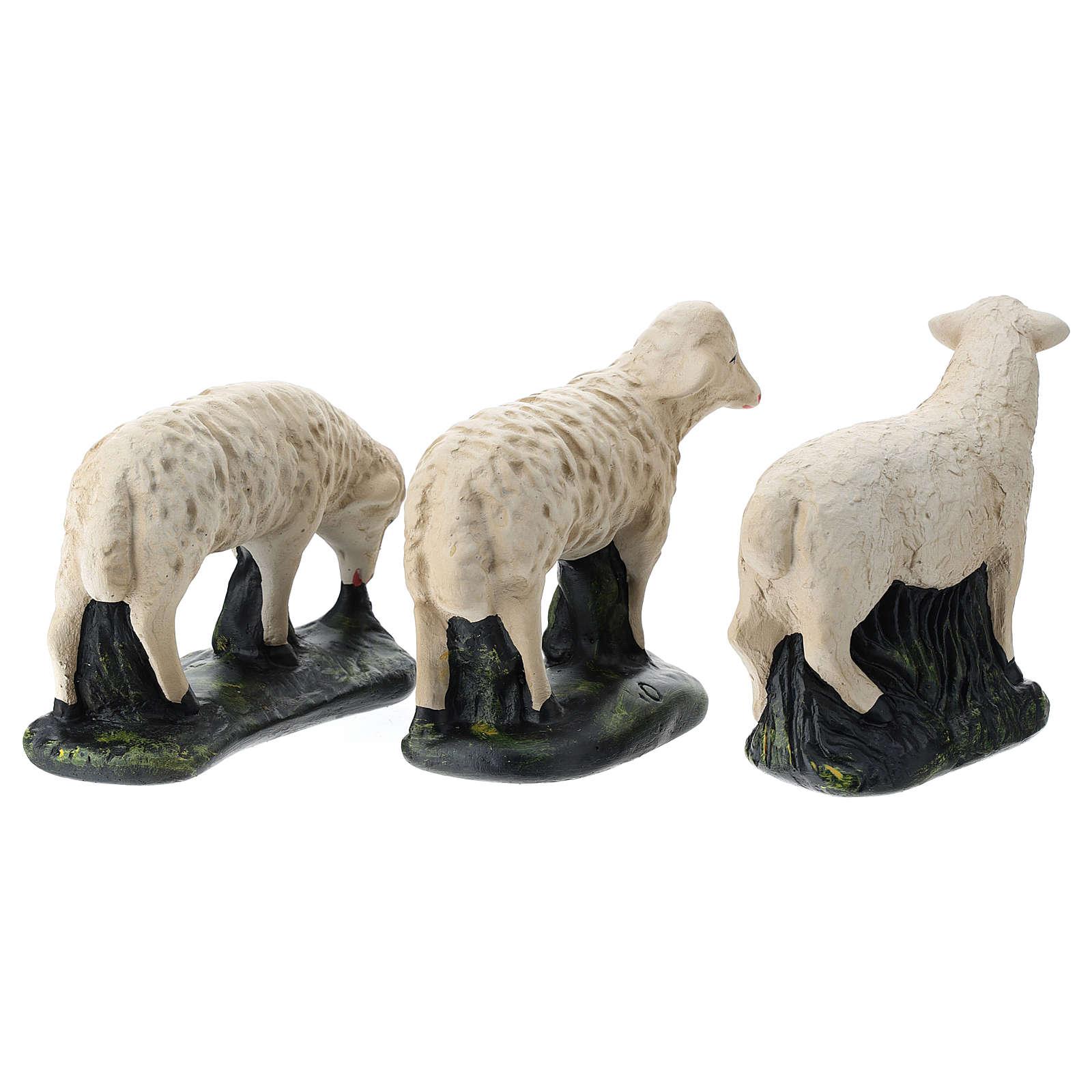 Estatuas set 3 ovejas yeso para belenes 40 cm Arte Barsanti 4