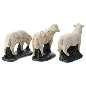 Statue set 3 pecorelle gesso per presepi 40 cm Arte Barsanti s5