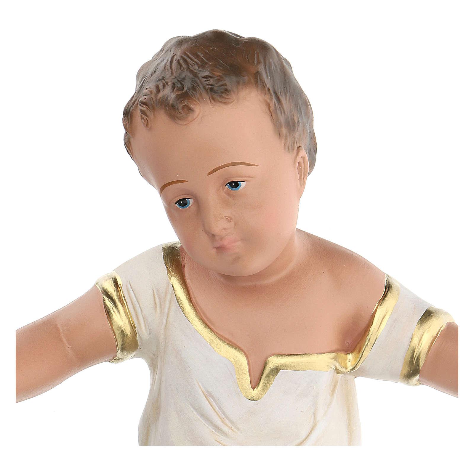 Niño Jesús de yeso pintado a mano belenes 60 cm Arte Barsanti 4