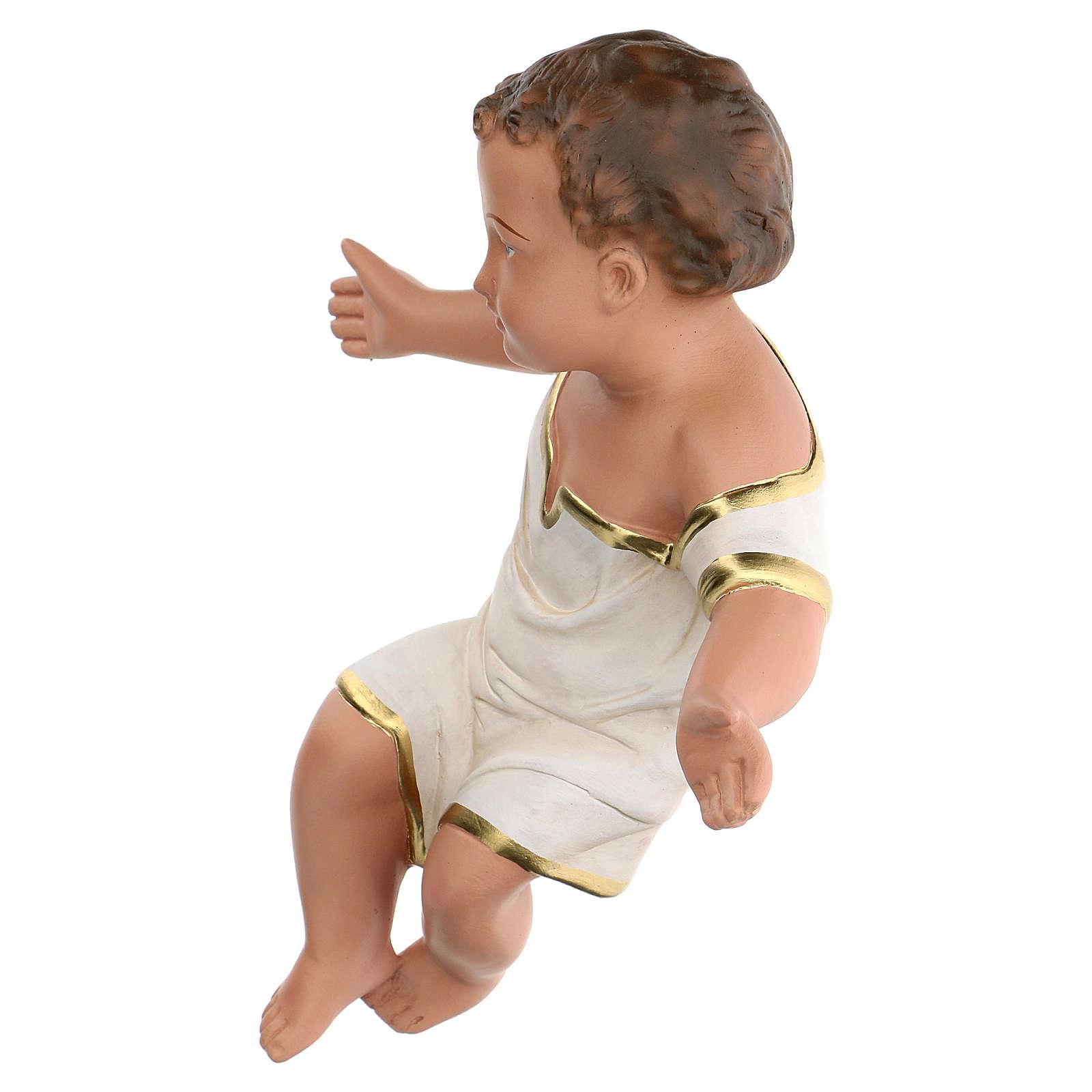 Gesù Bambino in gesso dipinto a mano presepi 60 cm Arte Barsanti 4