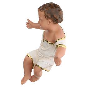 Gesù Bambino in gesso dipinto a mano presepi 60 cm Arte Barsanti s3