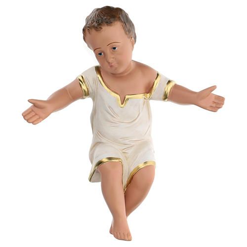 Gesù Bambino in gesso dipinto a mano presepi 60 cm Arte Barsanti 1