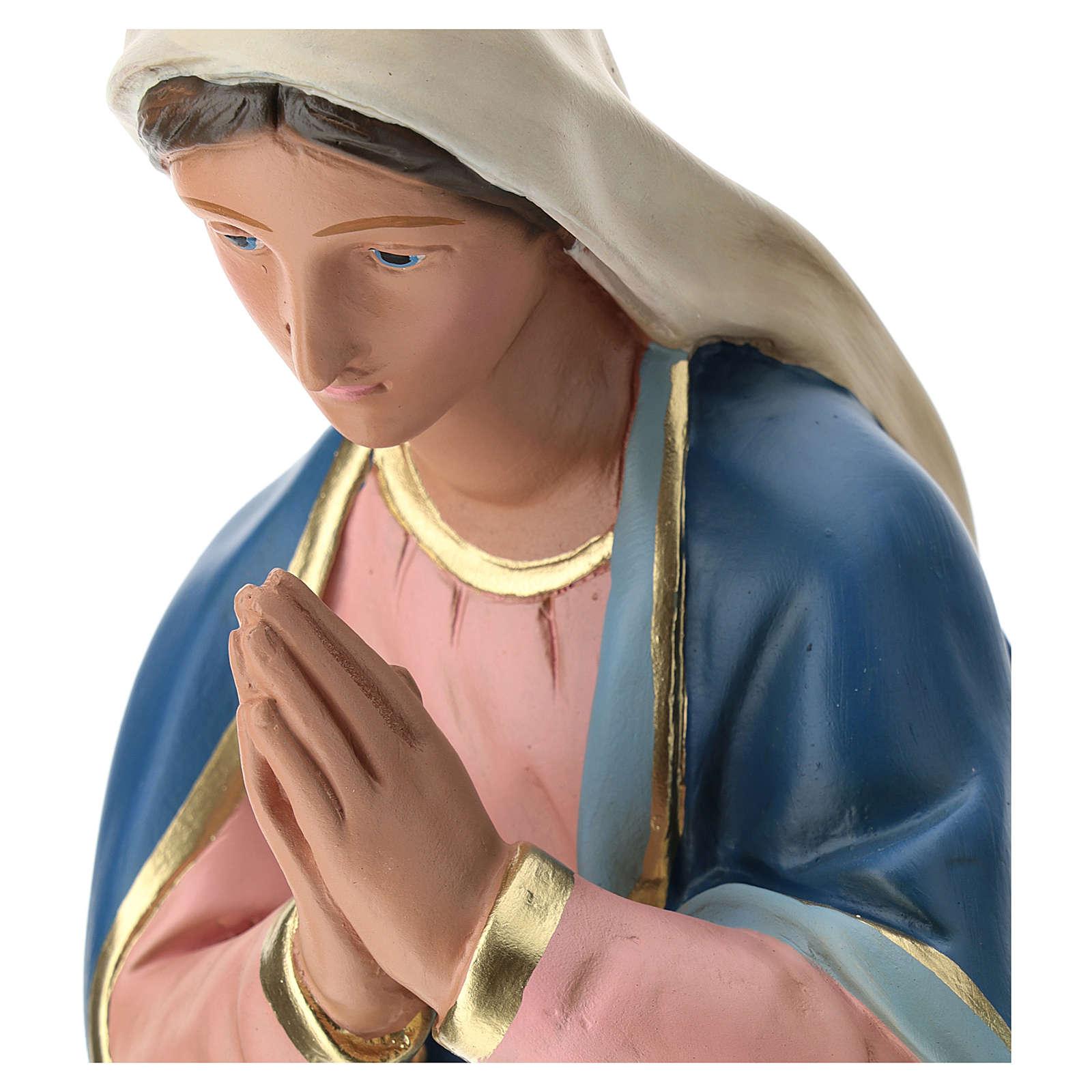 Estatua Virgen de yeso pintado a mano para belén 60 cm Barsanti 4