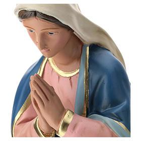 Estatua Virgen de yeso pintado a mano para belén 60 cm Barsanti s2