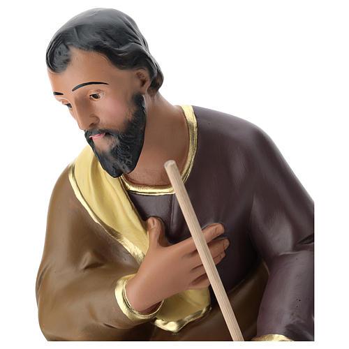 Estatua San José yeso pintado a mano belén 60 cm Arte Barsanti 2
