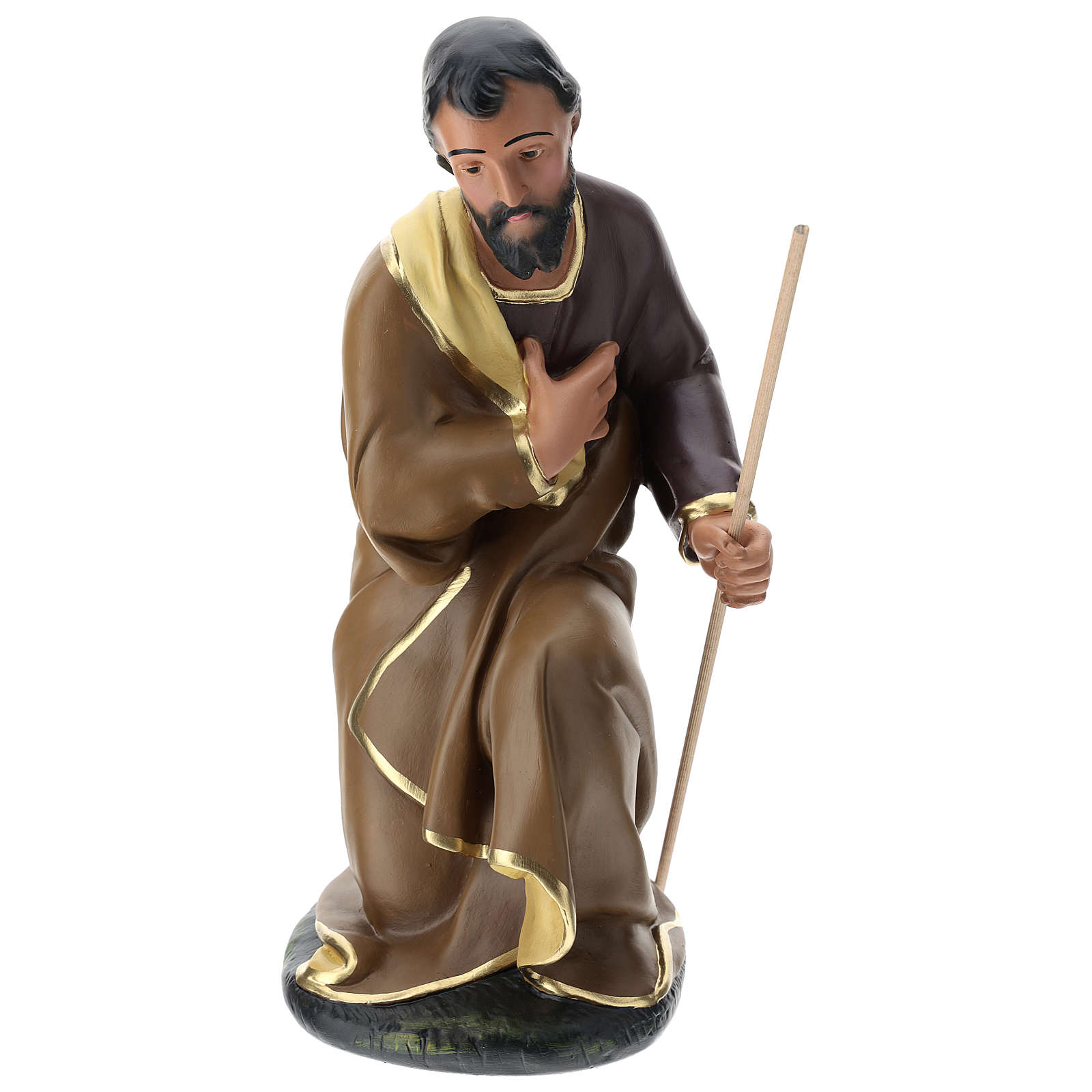 Statua Giuseppe gesso dipinto a mano presepe 60 cm Arte Barsanti 4